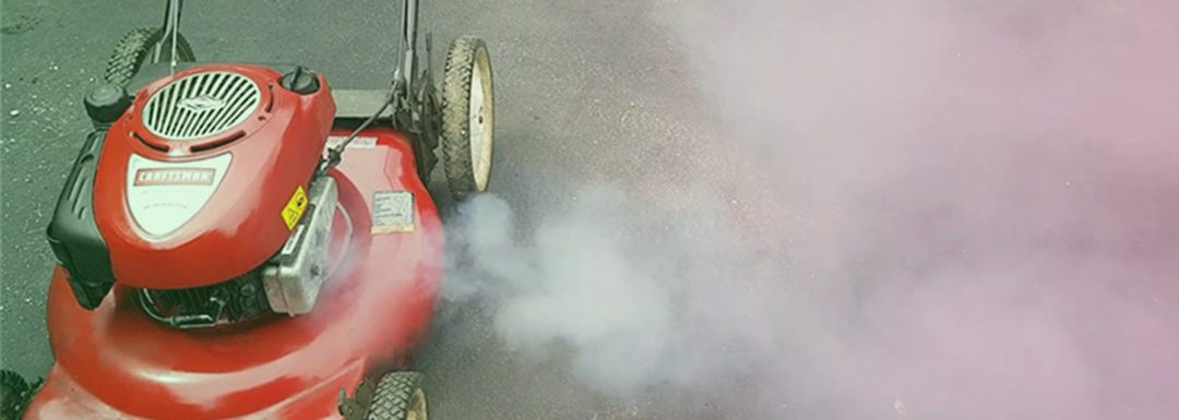 Why is my Lawn Mower Blowing Out White Smoke?