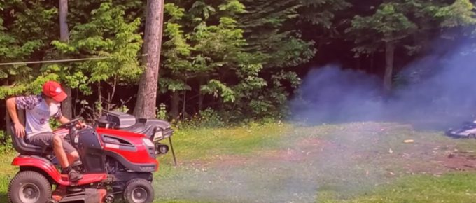 Why is my Riding lawn Mower Smoking