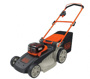 BLACK POWERSWAP battery powered lawn mower
