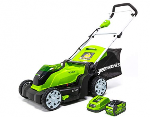 Greenworks 17-Inch 40V Cordless Lawn Mower Battery powered