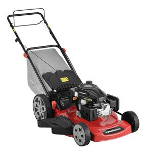 PowerSmart DB2322S Lawn Mower Black and red self propelled lawn mower