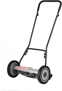 Great States 815-18 18-Inch 5-Blade Push Reel Lawn Mower, Grey