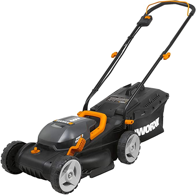 WORX WG779 40V Power Share 4.0 Ah 14 Lawn Mower w Mulching