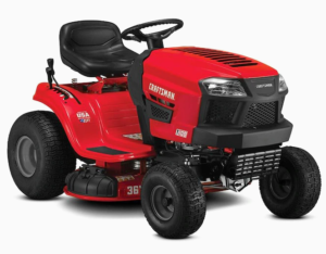 CRAFTSMAN T105-HP Manual/Gear 42-in Riding Lawn Mower with Mulching Capability (Kit Sold Separately).