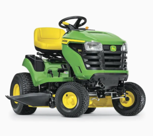 John Deere S100 17.5-HP Side By Side Hydrostatic 42-in Riding Lawn Mower with Mulching Capability (Kit Sold Separately)