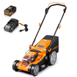 LawnMaster CLMF4016K Cordless Brushless Push Lawn Mower 40V Max Lithium-Ion 16-Inch with 4.0Ah Battery & Charger