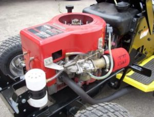 how to unseize a riding lawn mower's engine